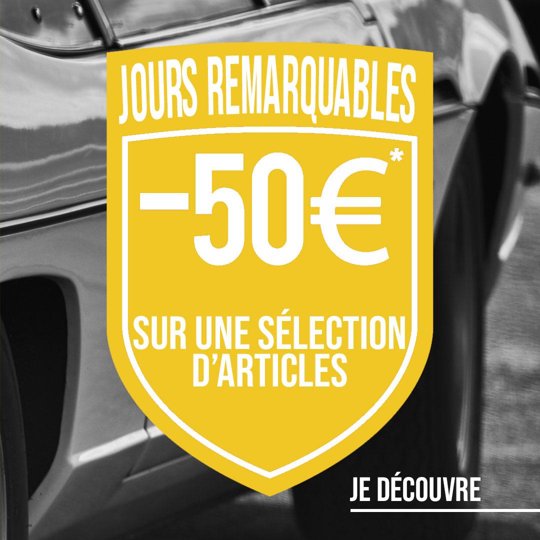 -50€ sur une sélection d'articles