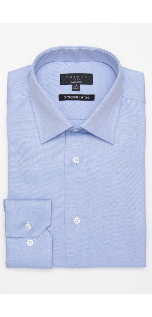 chemise-bleu-ciel-en-coton-double-retors